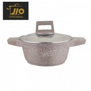 """Кастрюля с гранитным покрытием JIO """"Granite Cookware"""" / 20 см"""