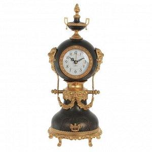 Часы настольные декоративные с музыкальной шкатулкой, L14,5 W10 H37 см, (1хАА не прилаг.)