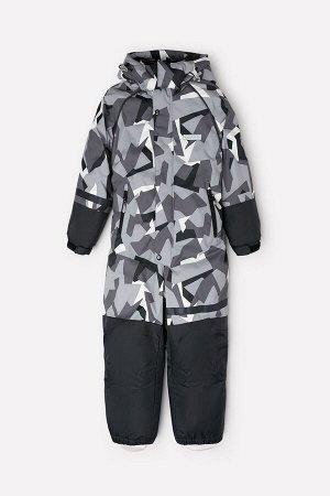 Комбинезон(Осень-Зима)+boys (серый, камуфляж из треугольников)
