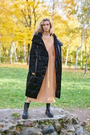 Пальто женское  черный матовый