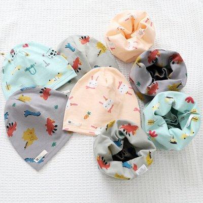Трикотажные шапочки для маленьких модников. Снуды, наборы