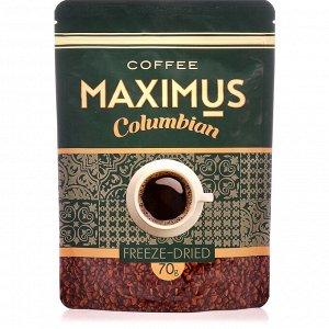 Кофе сублимированный РАСТВОРИМЫЙ «Columbian» ТМ Maximus м/у 70 гр.