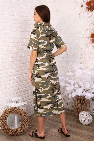 Платье Ткань кулирка Состав 100% хлопок Описание Платье женское удлинённое в спортивном стиле, рукав реглан, капюшон с декоративной тесьмой, имеется один накладной карман. Платье можно приталить (кули