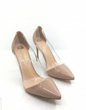 Туфли женские лаковые бежевые