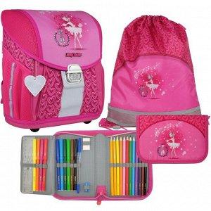 Ранец на замке Mag Taller EVO Light 35х30х21 см, с наполнением: мешок, пенал; Ballerina Pink