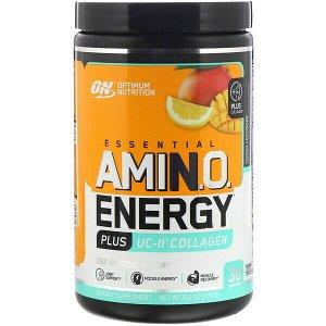 Optimum Nutrition, Энергия незаменимых аминокислот плюс коллаген UC-II, «Манговый лимонад», 270 г (9,5 унций)