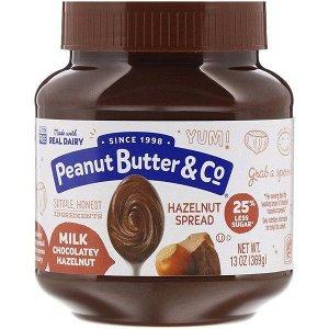 Peanut Butter & Co., Спред из фундука, молочный шоколад и фундук, 369 г (13 унций)