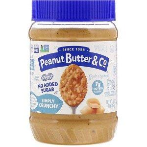 Peanut Butter & Co., Simply Crunchy, арахисовая паста, без добавления сахара, 454 г (16 унций)