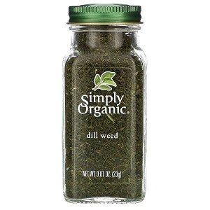 Simply Organic, укроп, 23 г (0,81 унции)