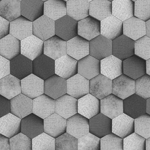 """Самоклеящаяся антивандальная пленка для декора """" Стена из шестигранников. Бетон"""" 60х155 см"""