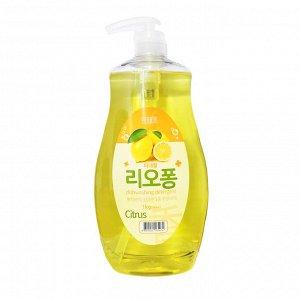 SHAIRIN RIOPONG Средство для мытья посуды, овощей и фруктов с экстрактами Цитрусовых (с помпой) 1 л.