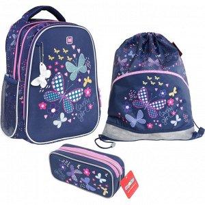 Рюкзак школьный Magtaller B-Cool, Butterflies, с наполнением, 410...