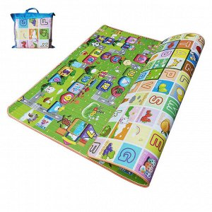 Детский двусторонний игровой коврик / 150 x 180 x 0.5 см