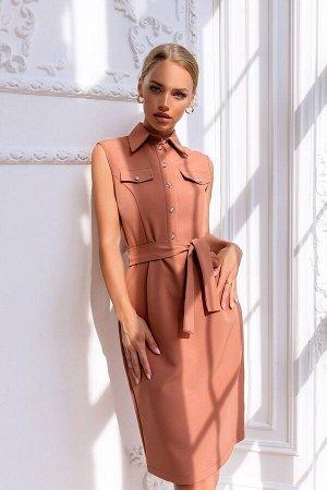Платье Платье в деловом стиле прекрасно подойдёт для офиса или корпоративных мероприятий. Строгое и нарядное одновременно за счёт костюмной ткани премиум класса и декоративных пуговиц-застёжек. Нежный