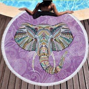 """Полотенце пляжное микрофибра """"Слон"""",150см"""