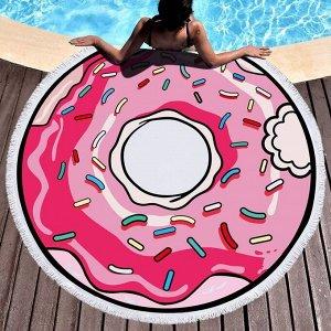 """Полотенце пляжное """"Пончик"""", 150 см"""