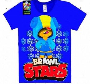 Светящаяся футболка «Brawl stars» Чупс СИНЯЯ
