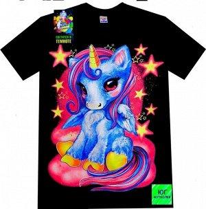 Светящаяся футболка «Единорог»