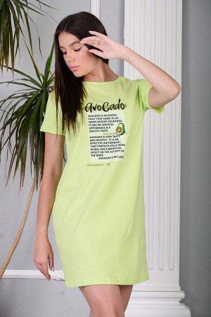 Сорочка Ткань кулирка Состав 100% хлопок Описание Молодёжная сорочка в виде удлинённой свободной футболки с современным текстовым принтом. Можно использовать в качестве домашней туники