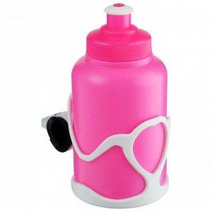 Велофляга STG с флягодержателем детская, цвет розовый