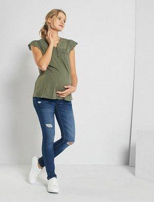 Зауженные джинсы для беременных