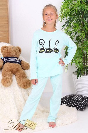 Пижама «Счастливая малинка» мята