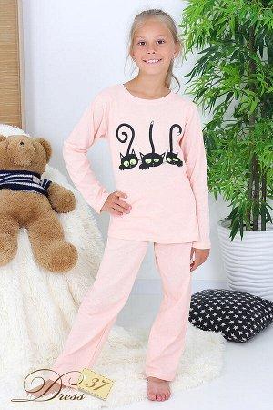 Пижама «Счастливая малинка» персик