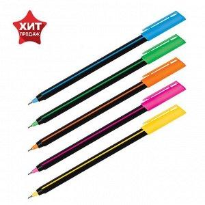 """Ручка шариковая Luxor """"Stick Soft Touch"""" 19700/50BX, цвет чернил синий, 0.7 мм, микс"""
