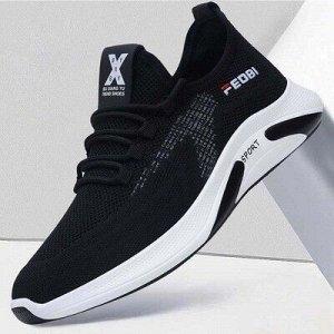 Текстильные кроссовки черные