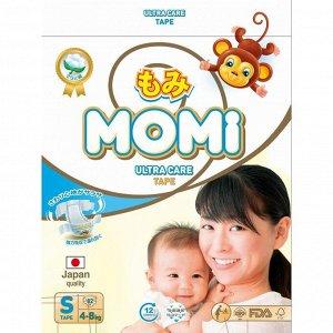 Подгузники MOMI Ultra Care, S (4-8 кг), 82 шт