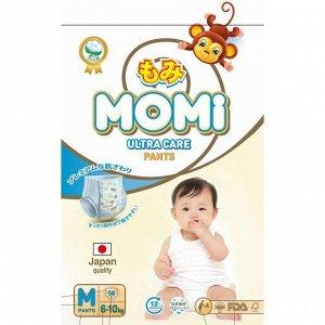 Подгузники-трусики MOMI Ultra Care, M (6-10 кг), 58 шт