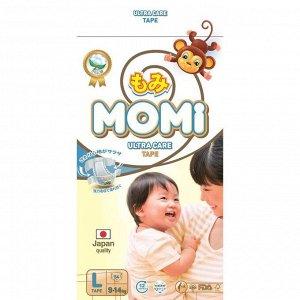 Подгузники MOMI Ultra Care, L (9-14 кг), 54 шт