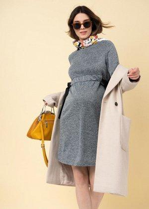 """Платье """"Нэнси"""" для беременных; серый меланж"""