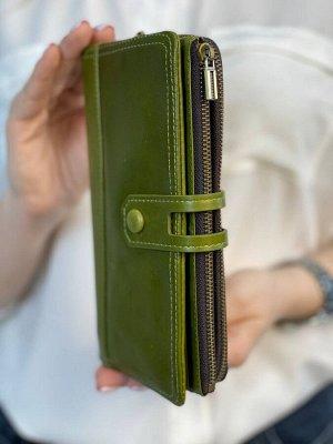 Кошелек женский кожаный (зеленый)