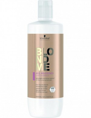 BlondMe Шампунь для тонких волос всех типов блонд 1000 мл