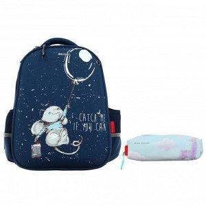 Рюкзак каркасный Bruno Visconti, 38 х 30 х 20 см + пенал, «Зверушки и шарики. Мышонок»