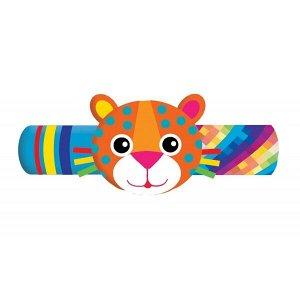RB-L Текстильная игрушка погремушка леопард браслет Умка