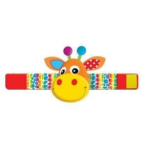 RB-G Текстильная игрушка погремушка жираф браслет функционал Умка