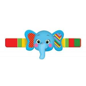 RB-E Текстильная игрушка погремушка слон браслет функционал Умка