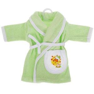 OTF-2101G-RU Одежда для кукол 40-42см махровый халат жираф КАРАПУЗ в кор.100шт