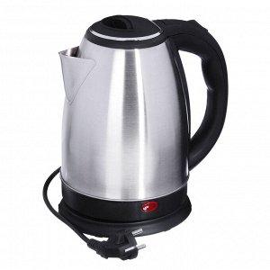 Чайник электрический 1,8л 1500Вт скрытый нагрев.элемент, автоотк.,нерж.сталь