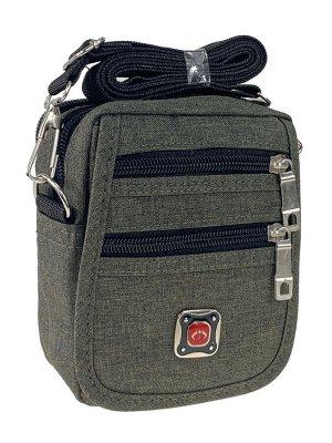 Спортивная поясная сумка из текстиля, цвет хаки