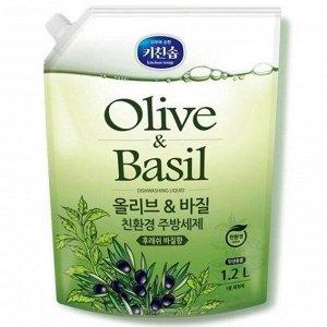 Средство для мытья посуды Mukunghwa, оливки и базилик, 1,2 л