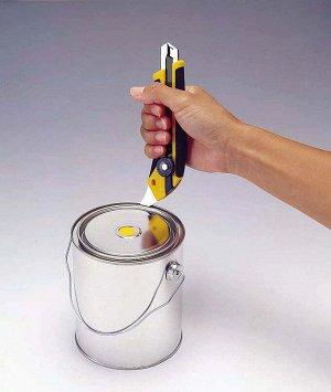 Нож OLFA Нож OLFA, двухкомпонентный корпус, трещоточный фиксатор, 18мм  Нож с сегментированным лезвием OLFA OL-L-5, предназначен для резки резины, фанеры, кожи, кровельных и прочих жестких материалов.