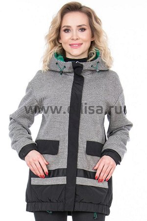 Куртки Куртка Towmy 7017_Р (Серый/черный 800)  Артикул: 7017_Р; Бренд: Towmy; Сезонность: Демисезон; Цвет: Черный; Оттенок: Серый/черный 800; Мех: Нет; Утеплитель: СинтепонКуртка Towmy  Верх 1: нитрил