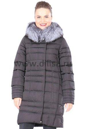 Пальто FineBabyCat с мехом 367-1_Р (Черный)