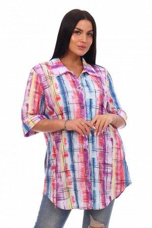 Туника-рубашка Леди (фиолетовая)