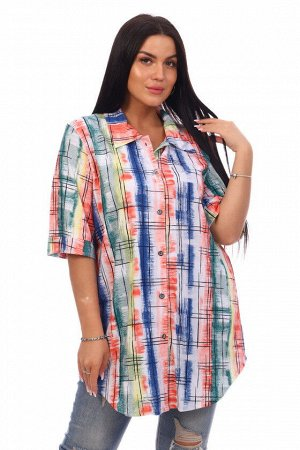 Туника-рубашка Леди (зеленая)