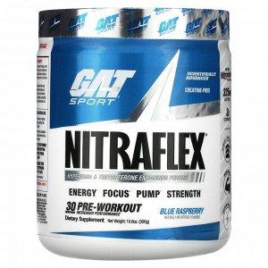 GAT, Sport, NITRAFLEX, голубая малина, 300 г (10,6 унции)
