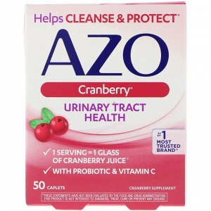 Azo, Здоровье мочевыводящих путей, клюква, 50 капсуловидных таблеток